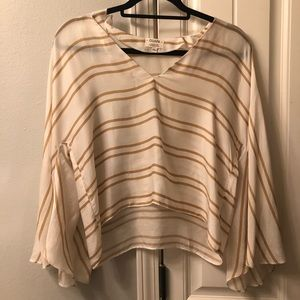 Anthropologie stripe blouse